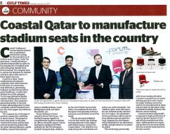 Our stadium chairs will be produced in Qatar