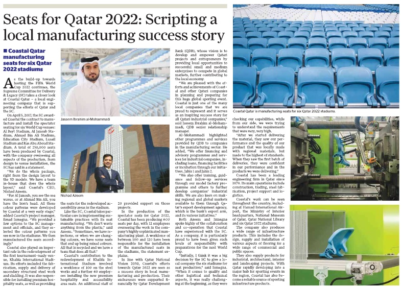 Coastal Qatar manufacturing seats for six Qatar 2022 stadiums